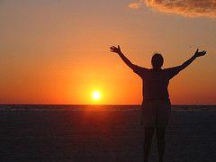 The setting sun at Ft. Meyers Beach, FL.