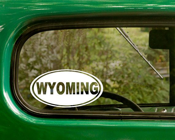Oval Wyoming Decal Car Decal Oval Wyoming by StickerAndDecalMafia