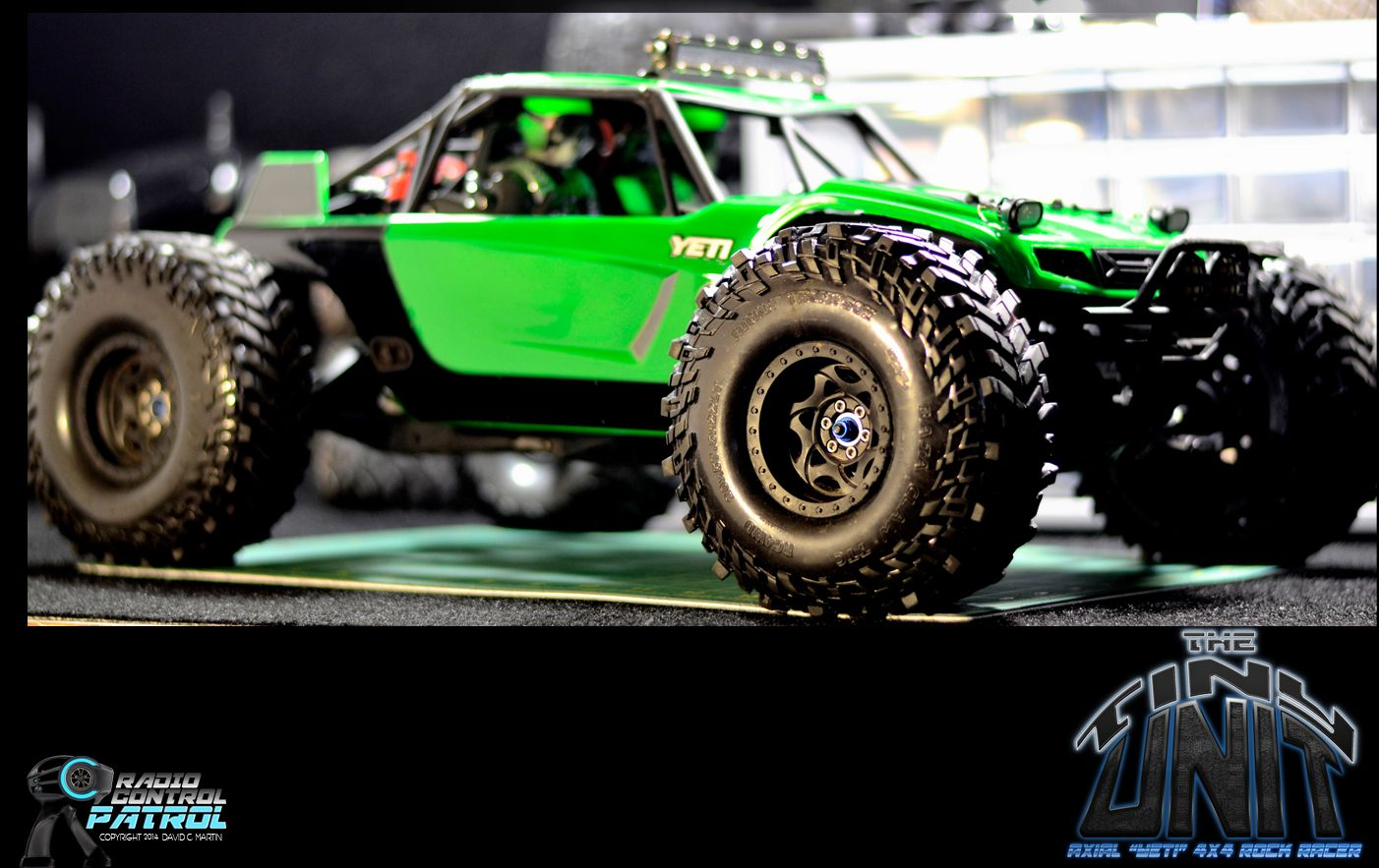 The first custom paint job on the rc patrol axial yeti rtr we chose florescent green with the factory black decals rc rcpatrol thetinyunit axialracing