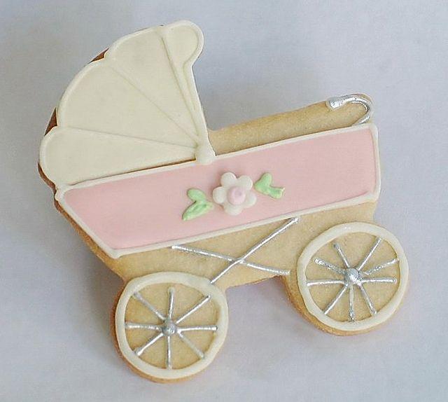 Baby Pram Baby Girl Cookies Baby Shower Cookies Baby