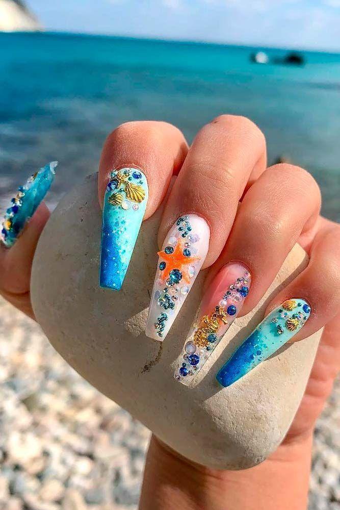Sea Mood Nail Style #seanails #cutenails ★ Einfache, süße ...