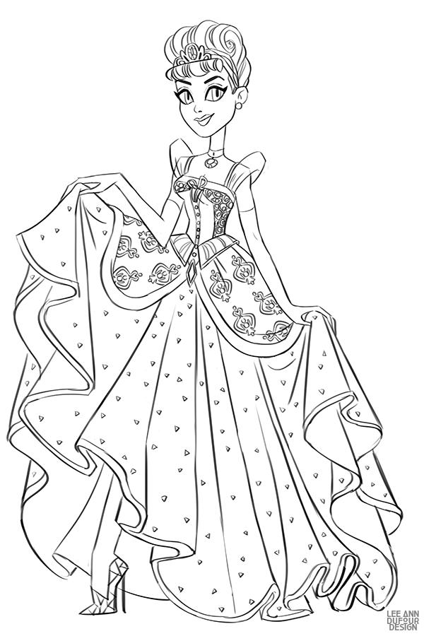раскраска дисней принцесса золушка Disney Princess