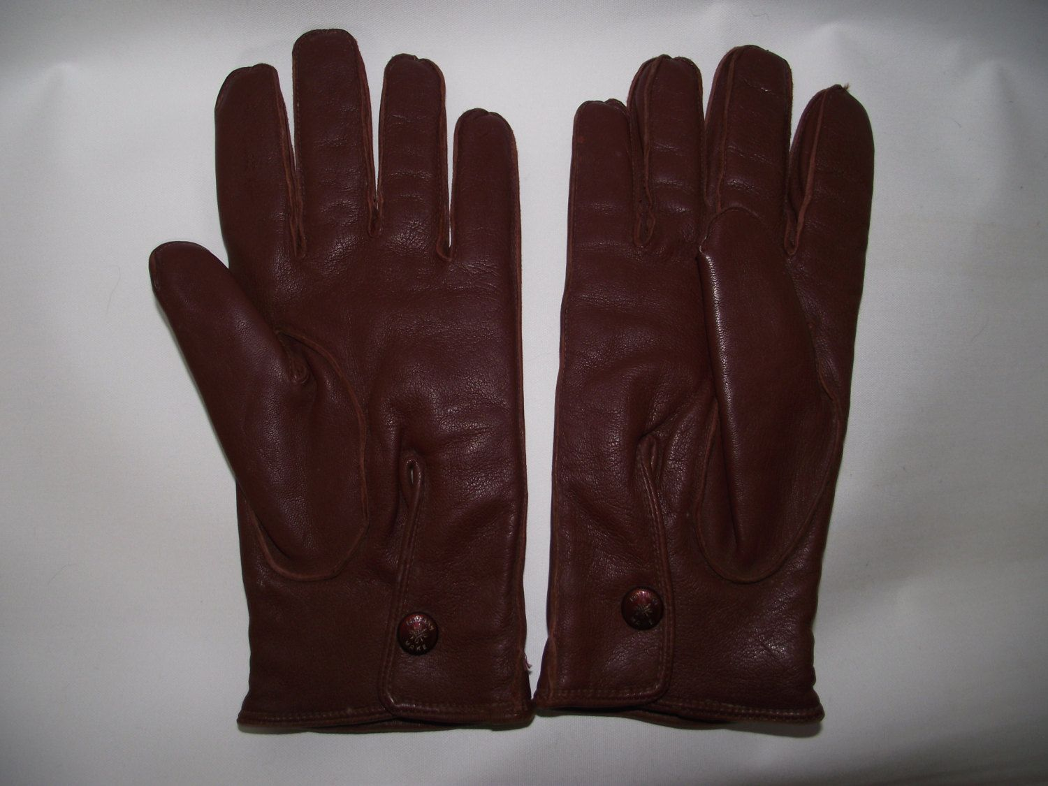 Driving gloves debenhams - Vintage Driving Gloves English Made Mens Super Soft Tan Leather Fleece Lined Driving Gloves