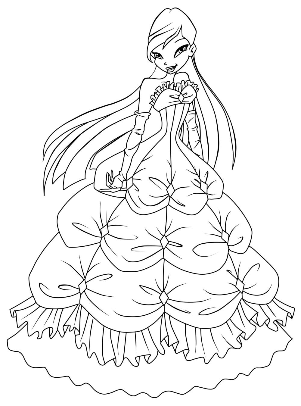 Winx Club Musa Coloring Pages