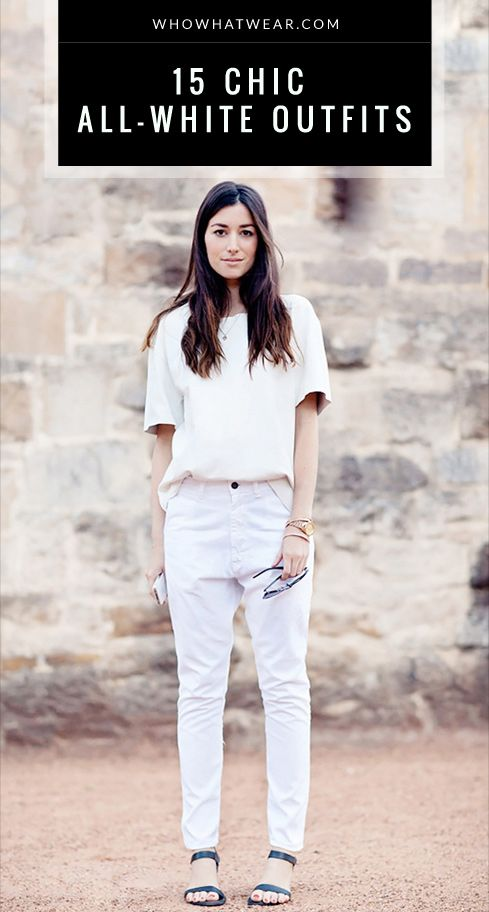 cd992eb1446 15 Super Chic All-White Outfits To Copy This Summer
