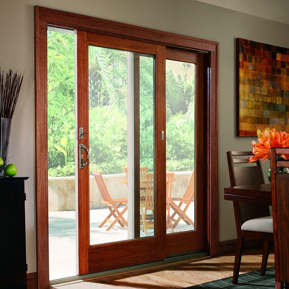 Andersen 400 Series 71 1 4 In X 79 1 2 In White Left Hand Frenchwood Gliding Patio Door F French Doors Patio Sliding Doors Exterior Sliding Glass Doors Patio