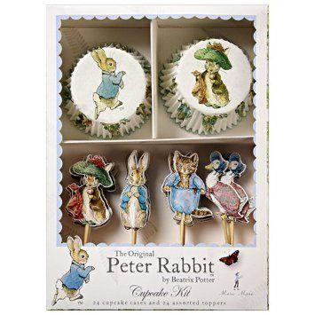 Amazon.com: Meri Meri Peter Rabbit Cupcake Kit: Kitchen & Dining  LOVE THESE!