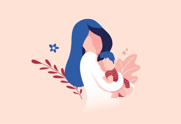 أجمل أبيات شعر عن الأم Illustration Baby Illustration Vector Illustration