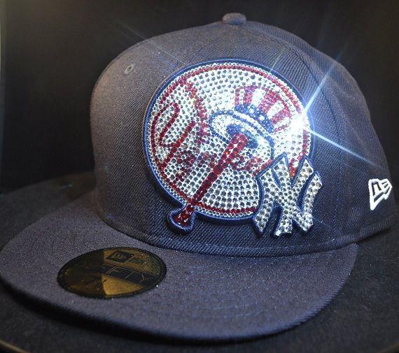 62c4e518e1c New York Yankees New Era 59Fifty Swarovski Rhinestone Bling Hat  www.babywantsbling.com