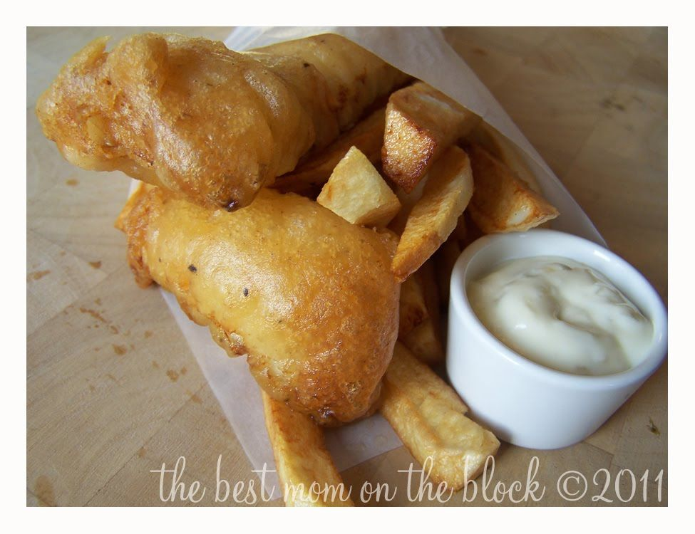 The best mom on the block pub style beer battered fish for Best beer battered fish