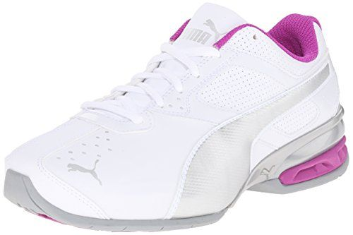 PUMA Womens Tazon 6 Wide Training Sneaker White Puma SilverPurple Cactus 65 W US * Want additional info? Click on the image.