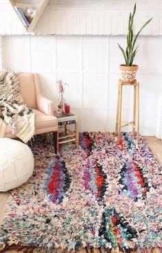 Such an amazing Boucherouite rug! Frim Baba Souk