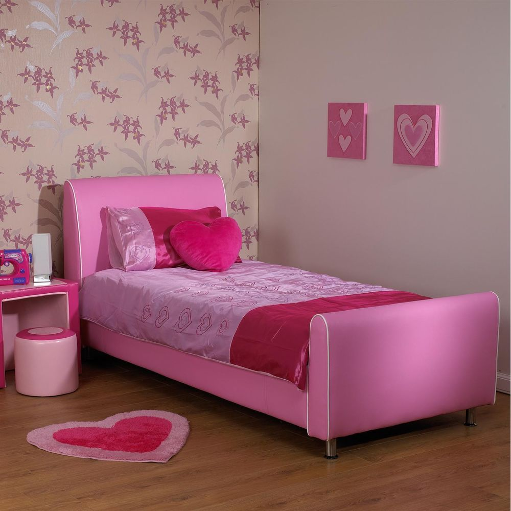 """Details about AZURE Girls Pink 2ft 6"""" Small Single Faux"""