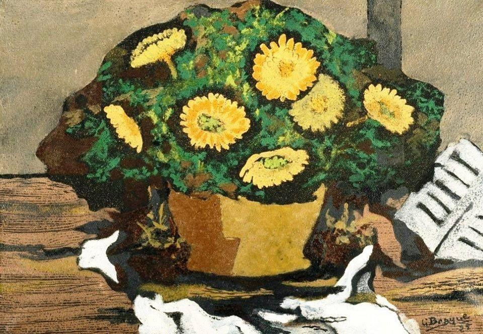 Georges Braque - Corbeiile de Fleurs, 1925.