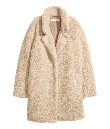 Faux Shearling Fur Coat Cream Natural Faux Shearling Coat Beige Coat Coat