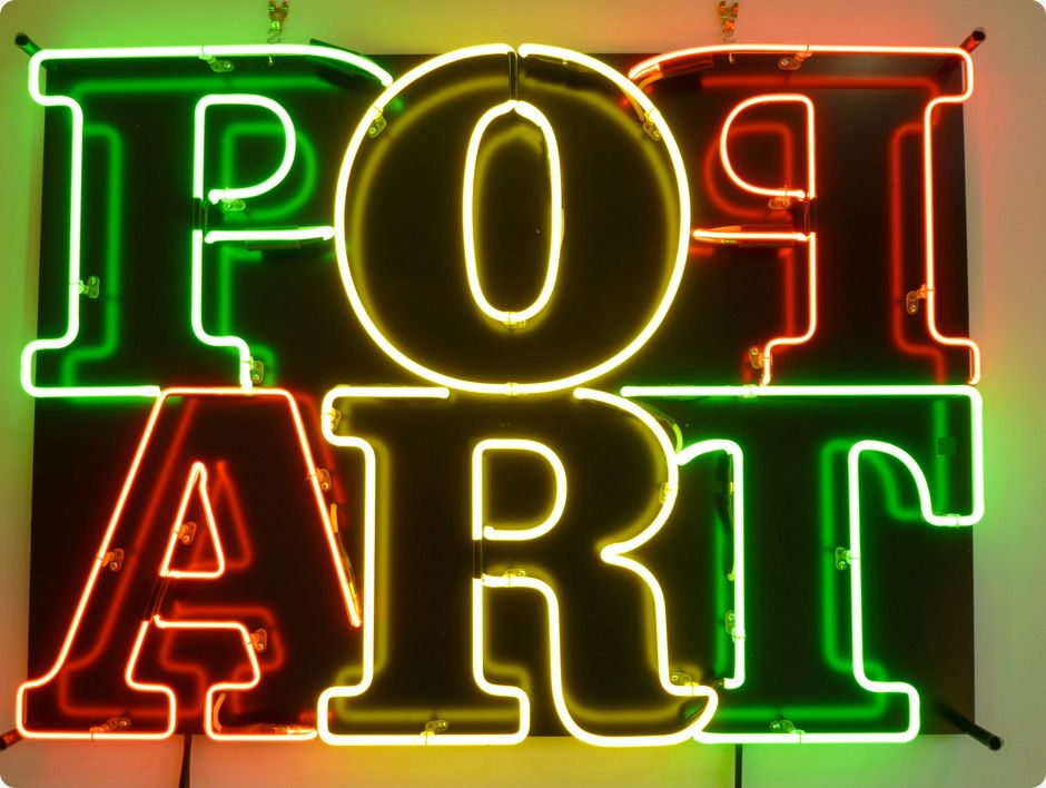 'Pop Art' Neon, 2012 made for the Corbel Art Gallery by Gulliverre