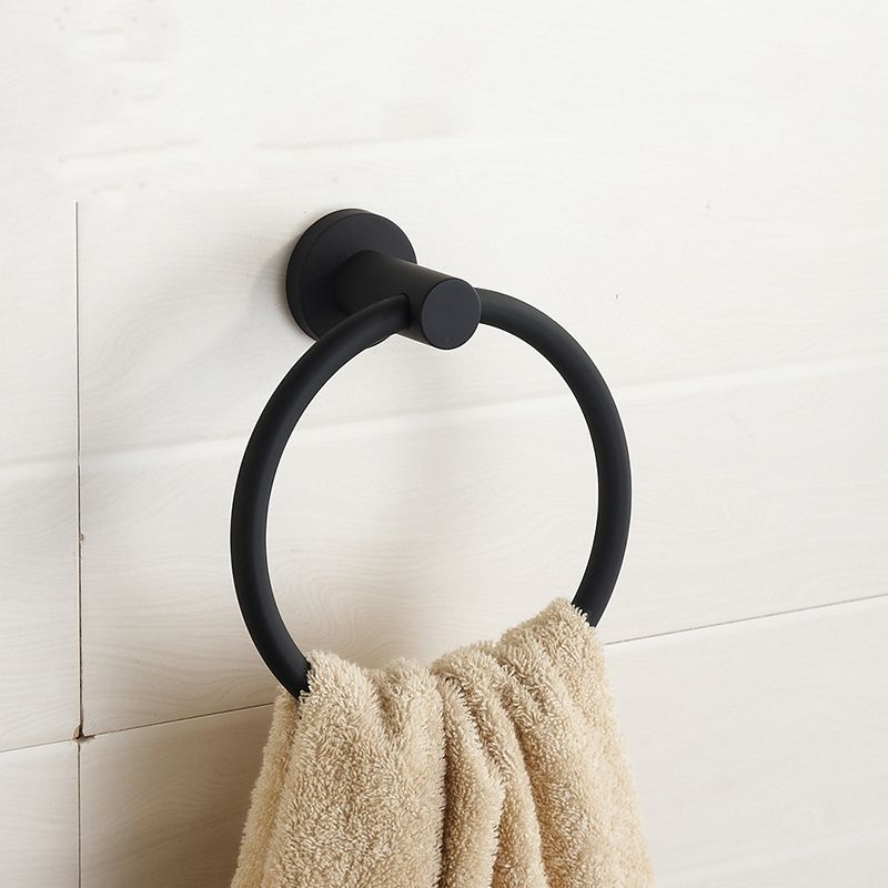 Personality Contemporary Black 304 Stainless Steel Towel Ring Towel Bar Brushed Towel Holder Mounting Bathroom Products Gd6 Towel Holder Black Towels Towel Bar