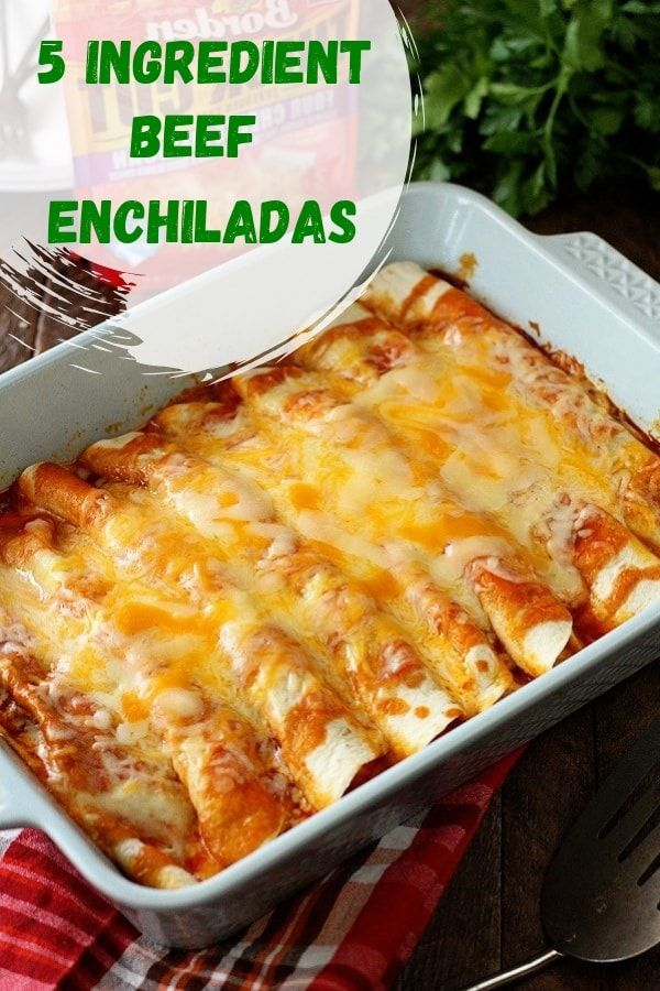 Easy 5 Ingredient Beef Enchiladas images