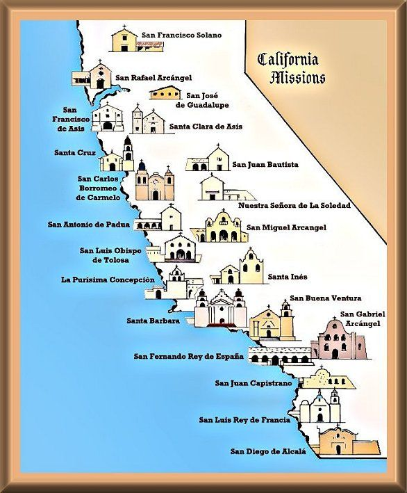 California Missions Project - California missions map