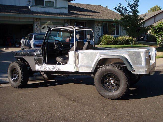 Jeep Yj Aqualu Truck Conversion Jeep Truck Jeep Gladiator Jeep