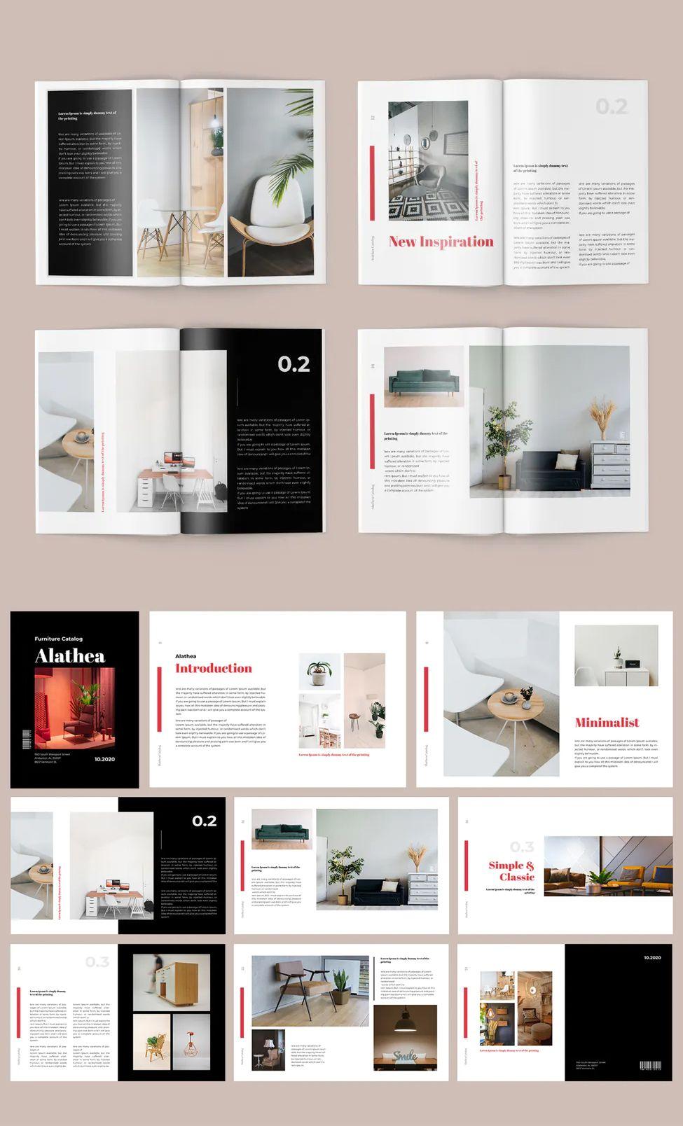 Furniture Magazine Template Ai Indd In 2020 Catalog Design Layout Book Design Layout Magazine Layout Design