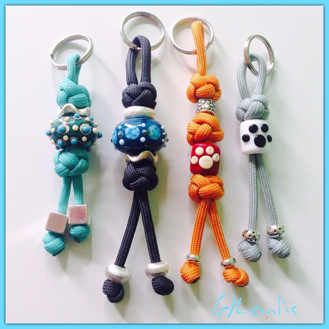 Cooles Taschen Accessoires Leder Bommeln Anhänger Schlüsselanhänger Geflochten