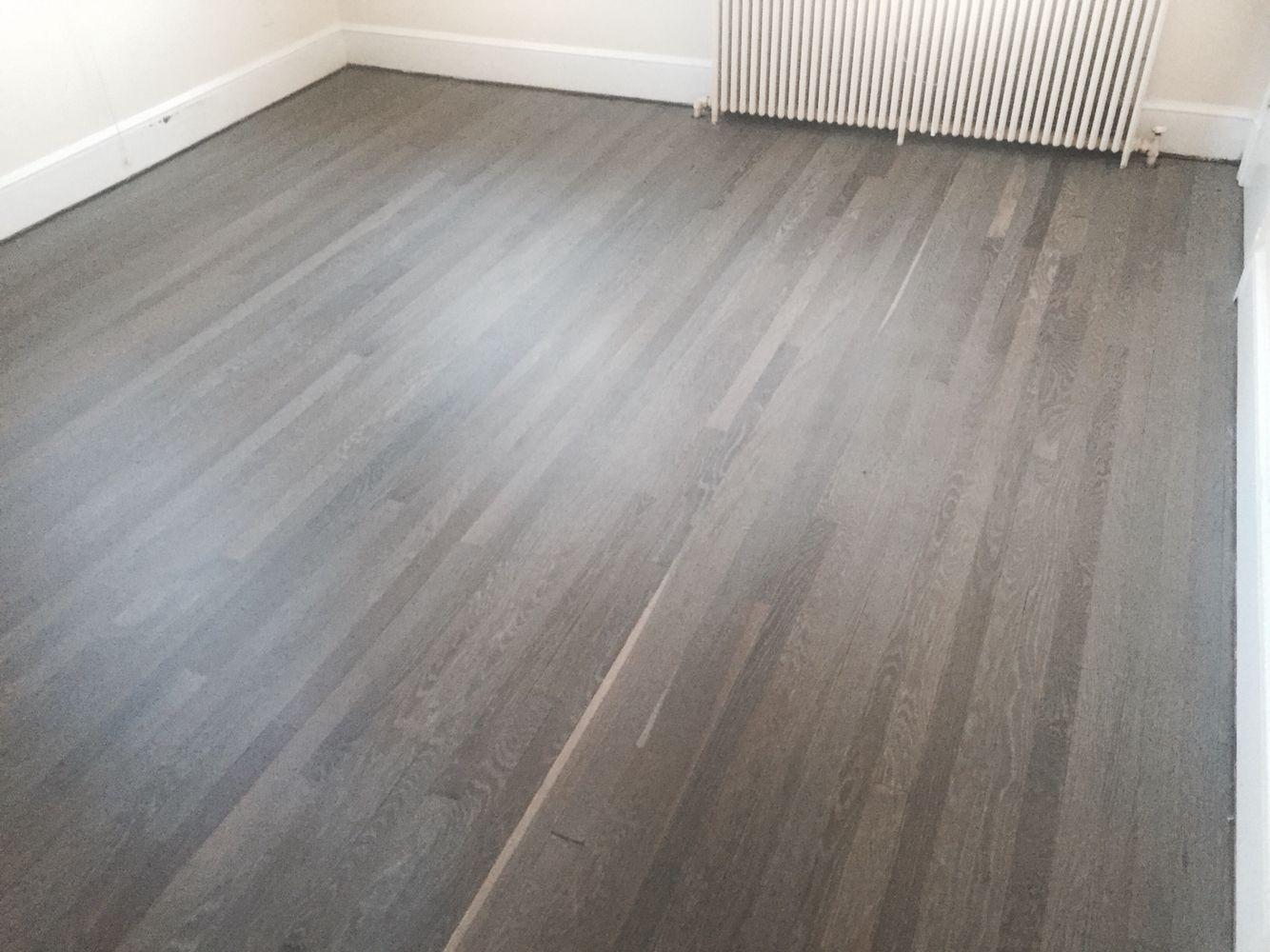 Refinished white oak floors with Rubio Fumed and Rubio 5 white floor oil  Hardwood Flooring