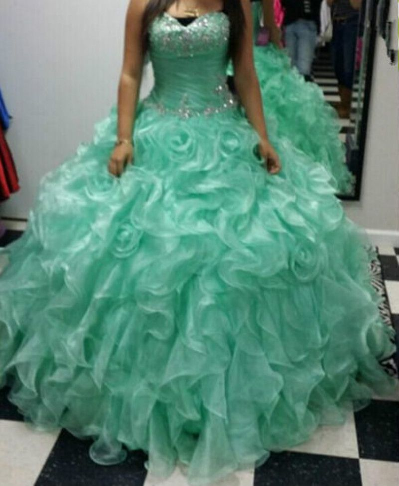 Find More Quinceanera Dresses Information about Minit Green ...