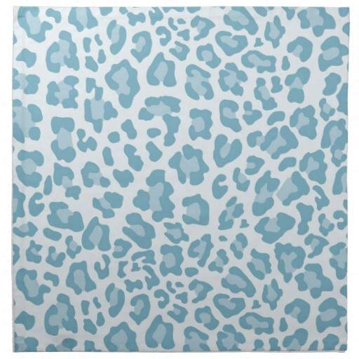 Rainbow Leopard Print Collection Light Blue Napkin Zazzle Com Rainbow Leopard Print Light Blue Aesthetic Leopard Print Background Blue wallpaper cheetah print