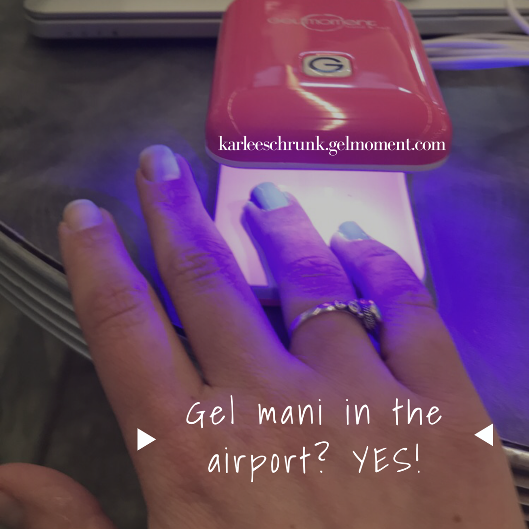 Gel nails at the airport? Why not?! Thanks to GelMoment, you can DIY ...