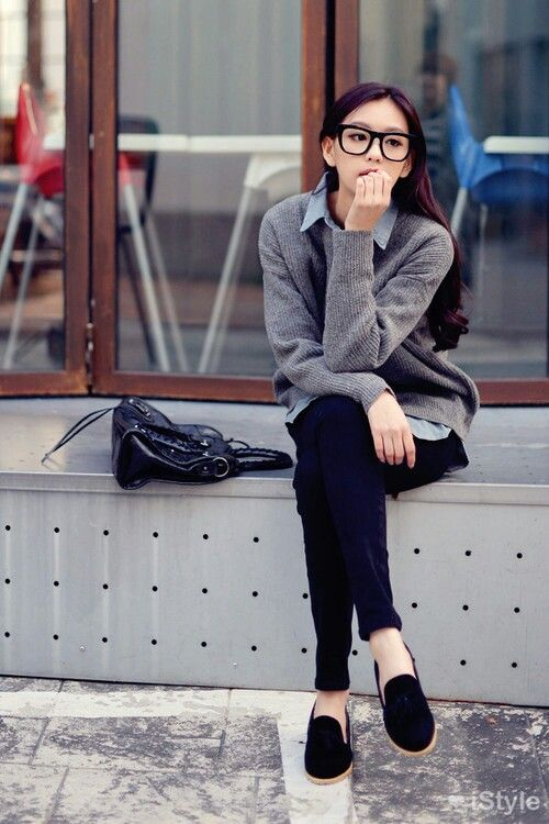 2b6749e1e2c6 Korean fashion.  nerdy  office  smart  casual  kfashion  kstyle