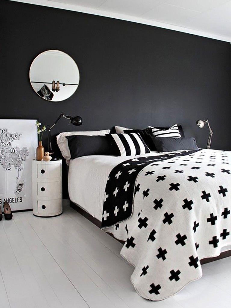 Quarto Preto E Branco Studentenwohnungen, Schlafzimmer Ideen, Schlafzimmer  Innengestaltung, Jahreszeiten, Raumgestaltung,