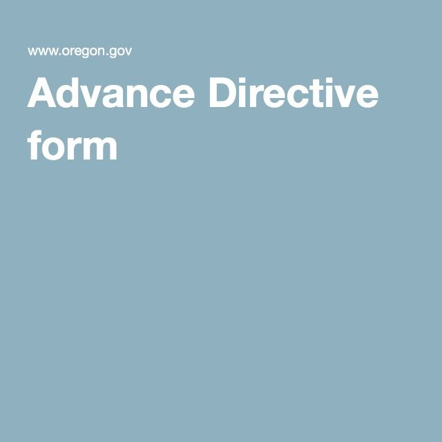 Advance Directive form Health The end Pinterest Financial