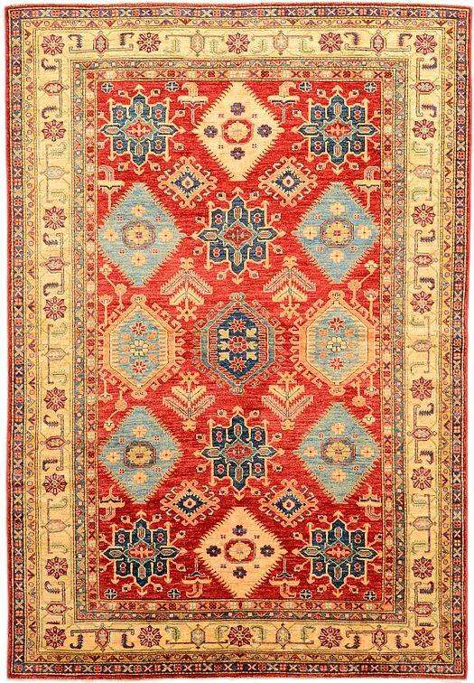 Red 5 11 X 8 4 Geometric Kazak Rug Oriental Rugs Esalerugs