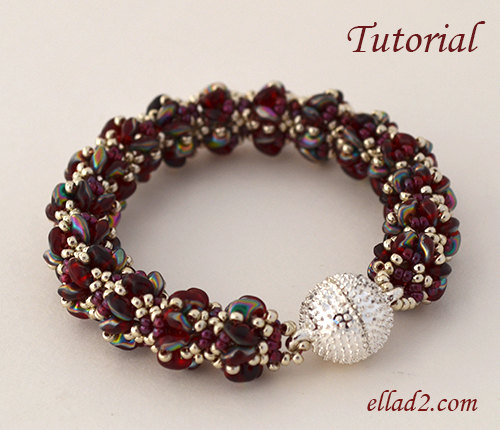Merlot Bracelet This Is Another Easy Quick And Beautiful Beading Project Tutorial Braceletl Very Detailed Clear Instructions