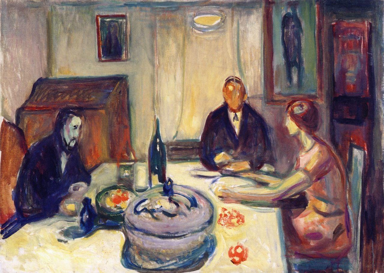 The Athenaeum - Oslo Bohemians (1925 - 1926) (Edvard Munch - )