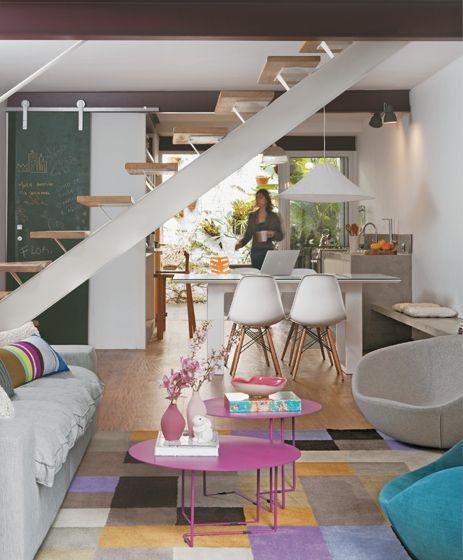 Sobrado com atmosfera feminina Apartments, Small spaces and Small