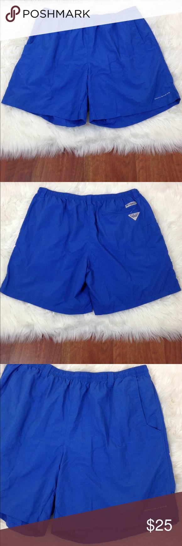 Columbia Men S Swim Trunks Board Shorts Blue Xxl In 2020 Mens Swim Trunks Swim Trunks Gym Shorts Womens