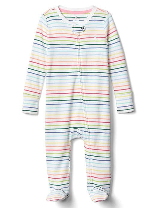 9c38692cb Gap Babies  First Favorite Print Footed One-Piece Multi Stripe ...