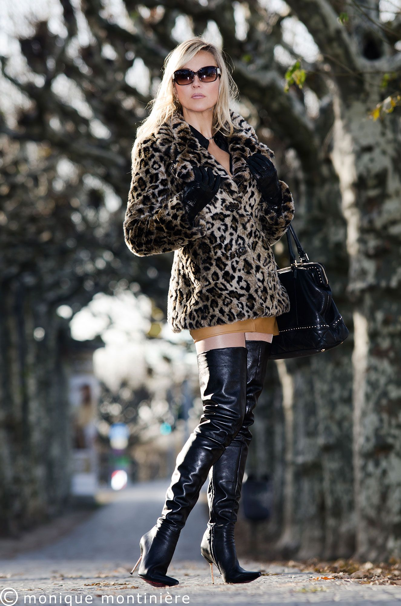 Monique Montiniere in AROLLO Thigh High Boots Stiletto ...