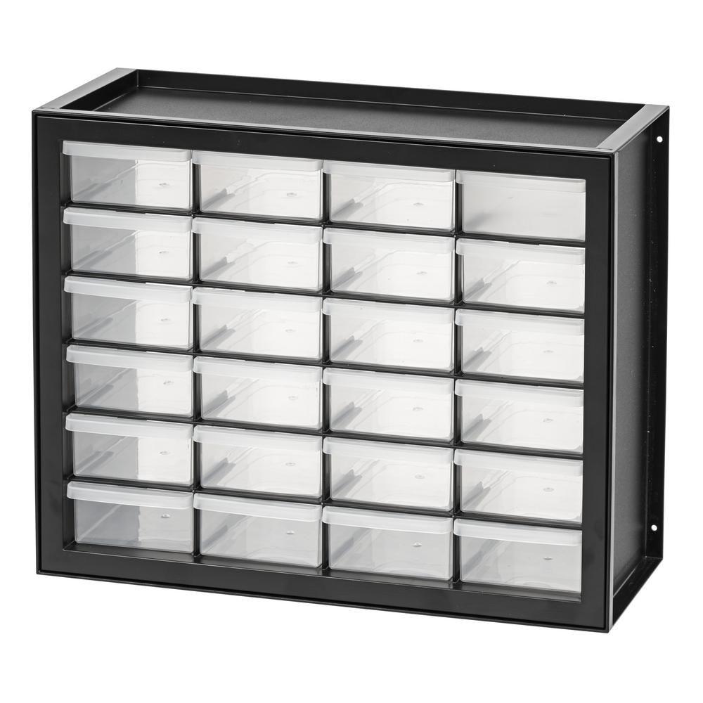 Iris 24 Drawer Parts Cabinet In Black In 2020 Drawers Drawer Storage Unit Iris