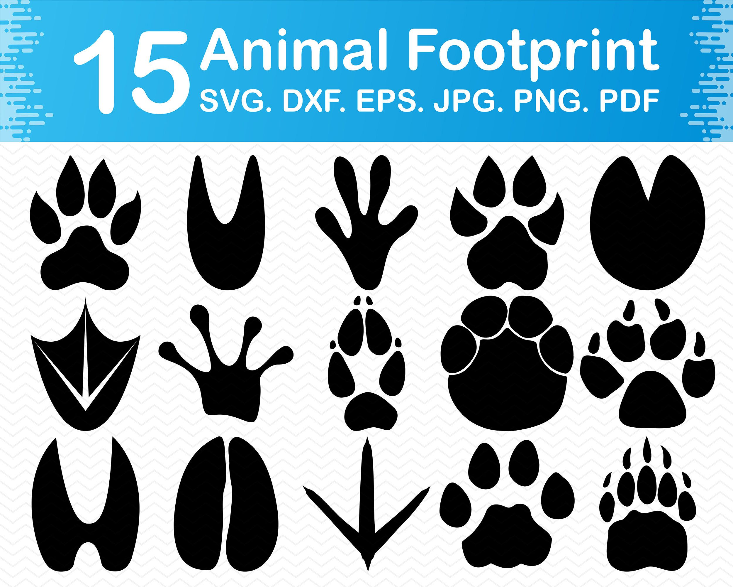 Paw Prints Digital Clip Art Paw Print Clipart Instant Etsy In 2021 Paw Print Crafts Paw Patrol Decorations Digital Clip Art