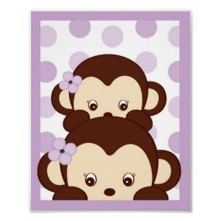 Girl nursery clip art mod girls fabric baby girl for Nursery monkey fabric