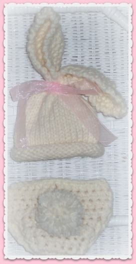 Easter Bunny Crochet hat and diaper cover | Crochet baby outfits ...