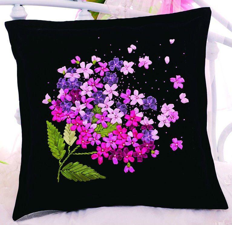3d ruban broderie kits taie d 39 oreiller belle bloom - Amanda maison segunda mano ...