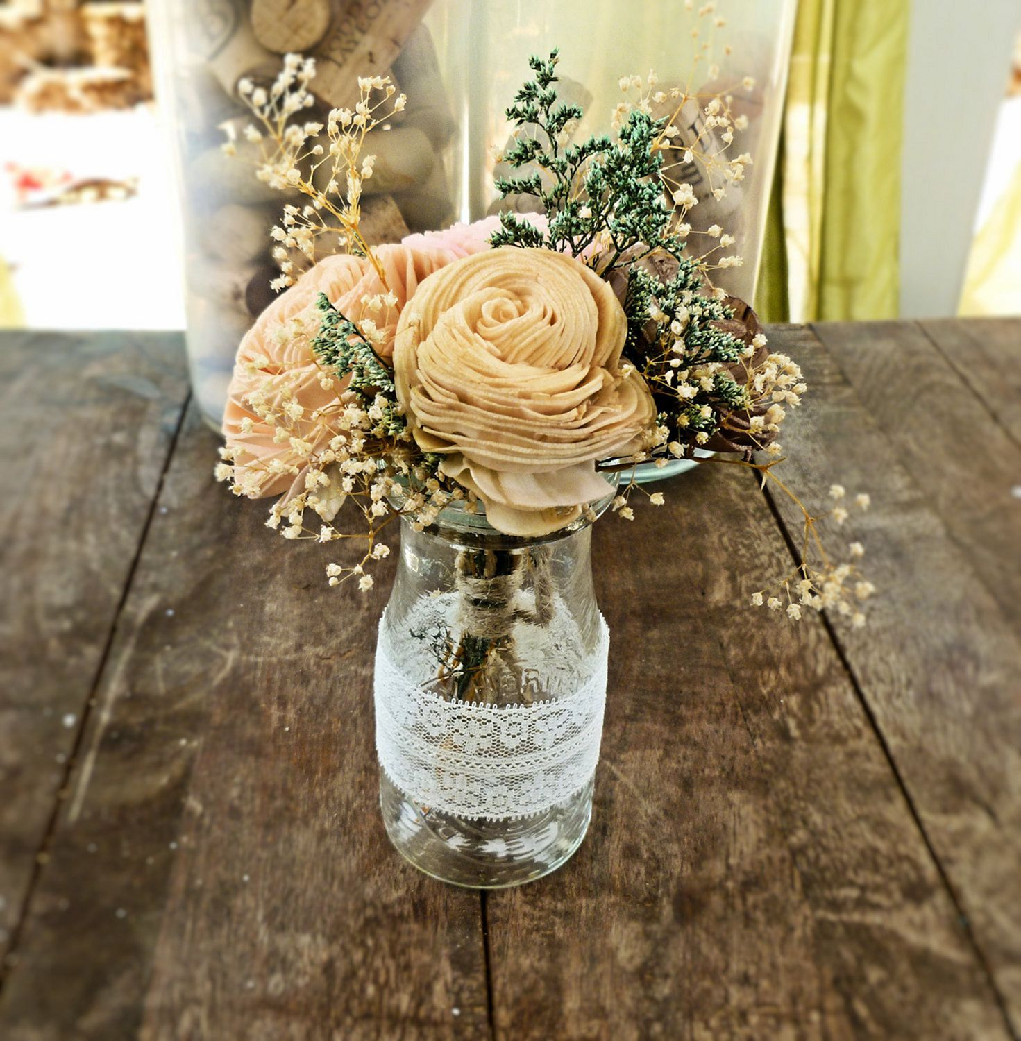 12 Adorable DIY Rustic Wedding Centerpieces Design And Decor (With