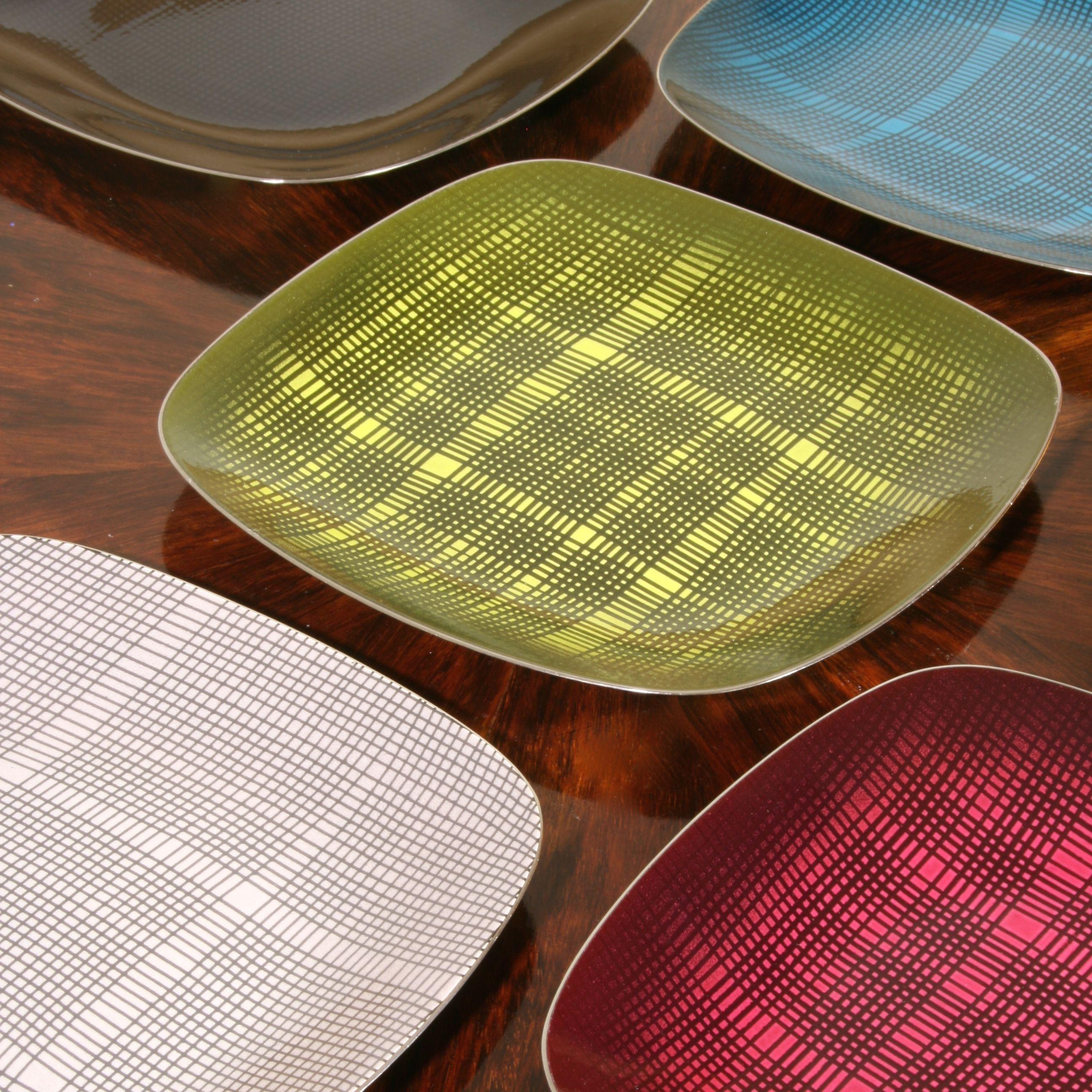 Enamelled plates designed by Grete Prytz Kittelsen for Cathrinehholm, Norway