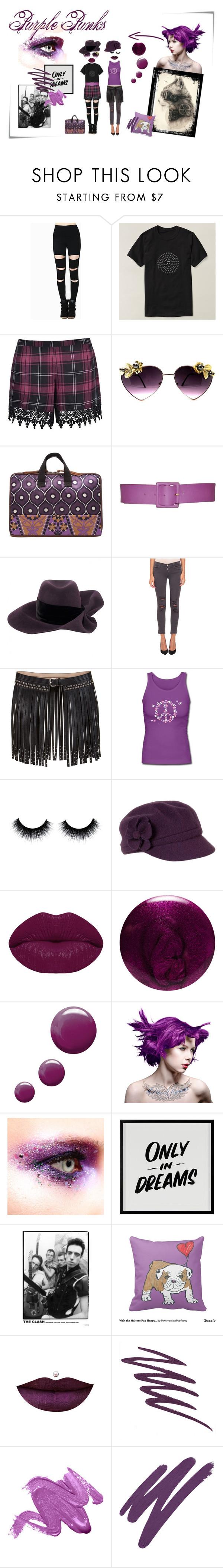 """Purple Punks"" by silkester on Polyvore featuring Mode, Ally Fashion, Yves Saint Laurent, Louis Vuitton, J Brand, BCBGMAXAZRIA, prAna, Winky Lux, JINsoon und Topshop"