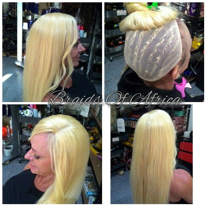 Full head weave on blonde hair extensions with a side closure and full head weave on blonde hair extensions with a side closure and a wig cap to pmusecretfo Image collections