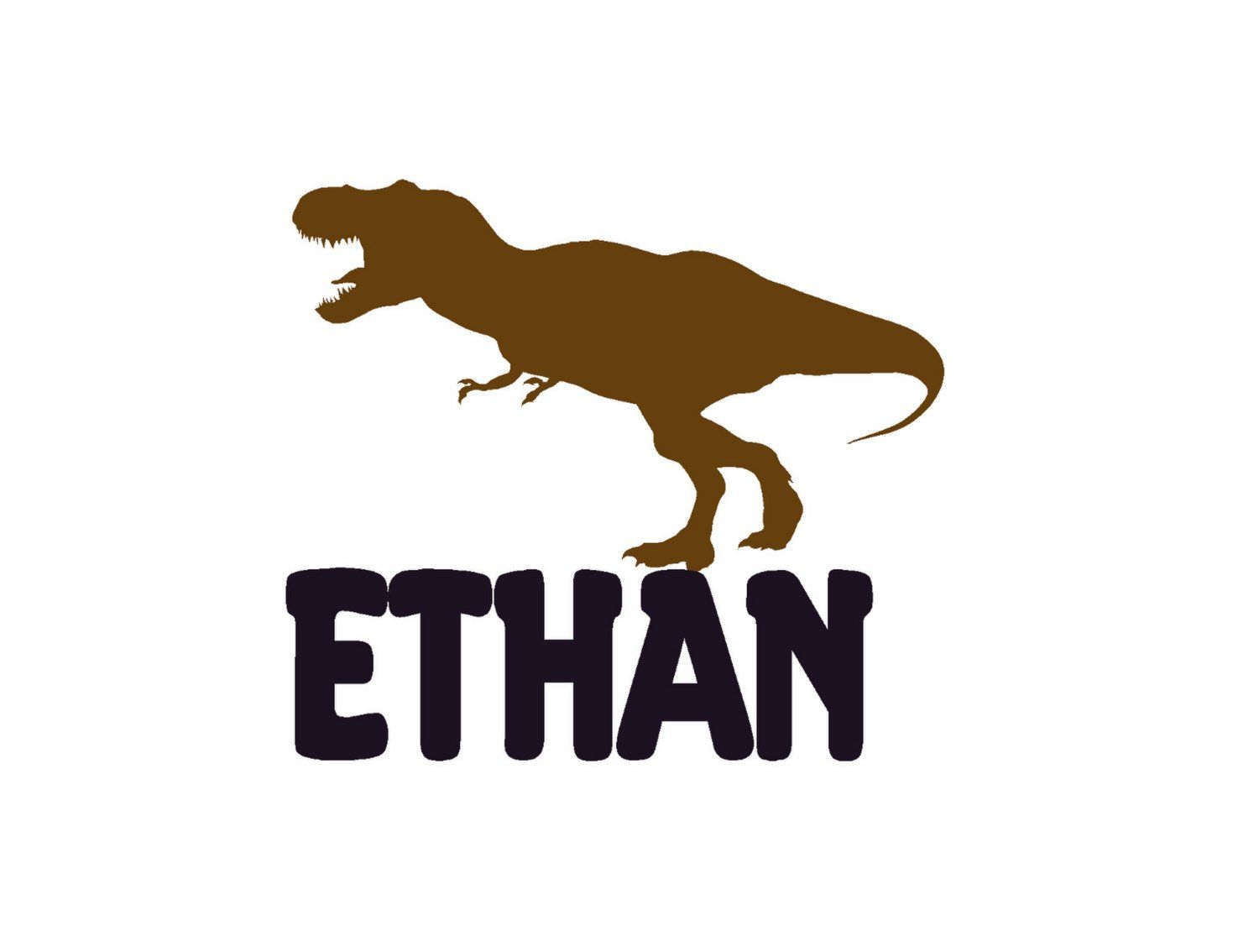 Boy Name Decal Personalized Vinyl Decals Dinosaur Wall - Custom vinyl wall decals dinosaur